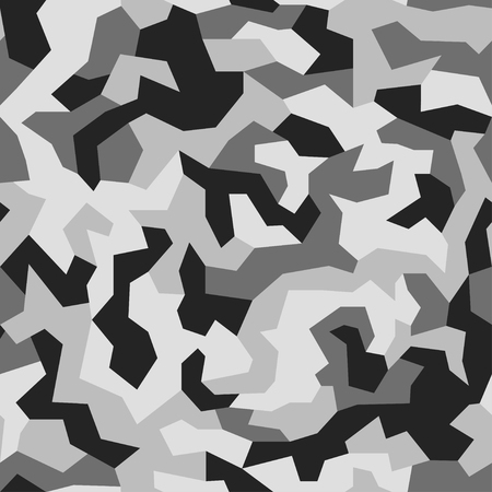 Geometric camouflage background. Modern fashion wallpaper. Army monochrome texture. Vector trendy camo pattern