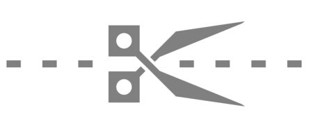 Scissors icon in trendy outline style design. Vector graphic illustration. Scissors icon for website design, logo, and ui. Editable vector stroke.