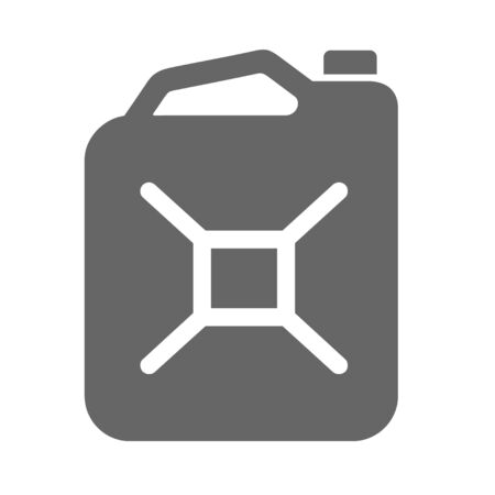 Fuel jerrycan icon. Canister for gasoline. Car oil vector isolated sign.