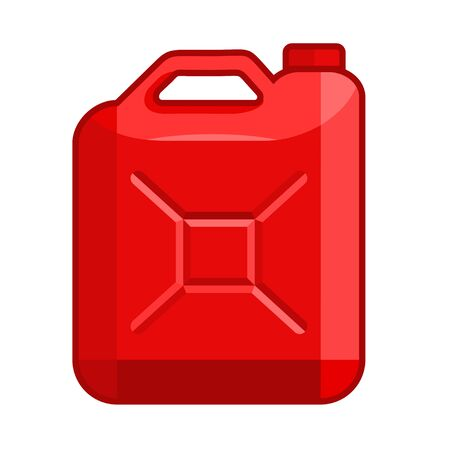 Fuel jerrycan icon. Canister for gasoline. Car oil vector sign Stock Illustratie