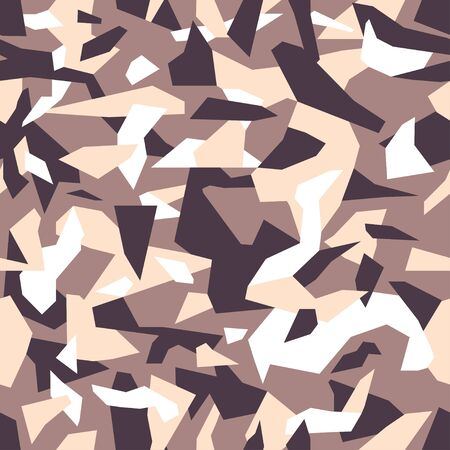 Debris Camouflage seamless pattern for your design. Beige, brown, colors texture. Urban camo repeat print. Vector background