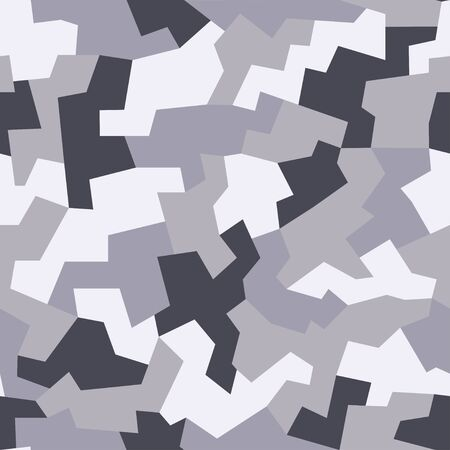 Geometric camouflage seamless pattern. Modern military texture background. Vector illustration.