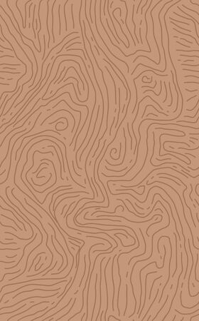Brown wooden surface of fiber. Template for your design. Natural wenge wood texture seamless background. Vector illustration.