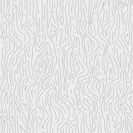 Hand-drawn line wooden background. Wood grain texture. Vector seamless pattern.
