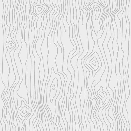 Seamless wooden pattern. Wood grain texture. Dense lines. Light gray background. Vector illustration Illustration