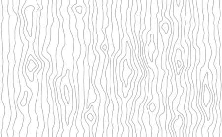 Modello in legno senza soluzione di continuità. Trama di venature del legno. Linee dense. Sfondo grigio chiaro. Illustrazione vettoriale