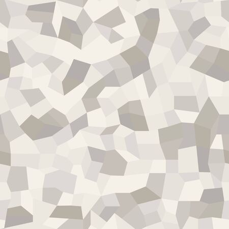 Mosaic floors of marble chips. Floors terrazzo, polymer mosaic seamless pattern in white colors. Abstract background. Vector texture