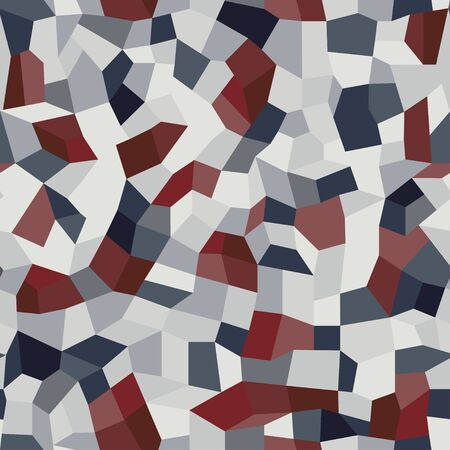 Vector terrazzo seamless pattern. Endless abstract italian type of floor. Trendy flooring background with chaotic colored stones. Colorful mosaic tile with polished pebble