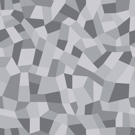Mosaic floors of marble chips. Floors terrazzo, polymer mosaic seamless pattern. Abstract gray background. Vector tile texture Illustration