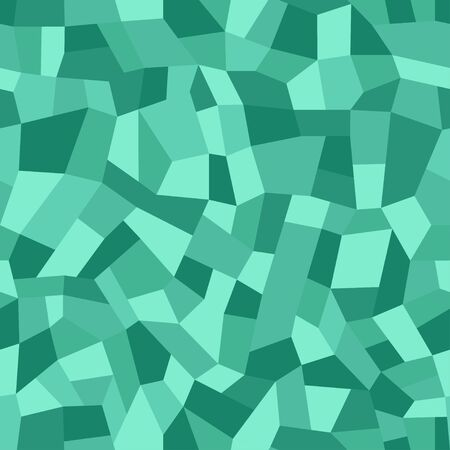 Mosaic floors of marble chips. Floors terrazzo, polymer mosaic seamless pattern. Abstract emerald background. Vector tile texture Illustration