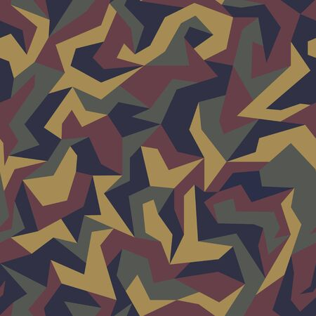 Geometric camouflage seamless pattern. Abstract modern military urban texture. Camo background. Vector Illustration