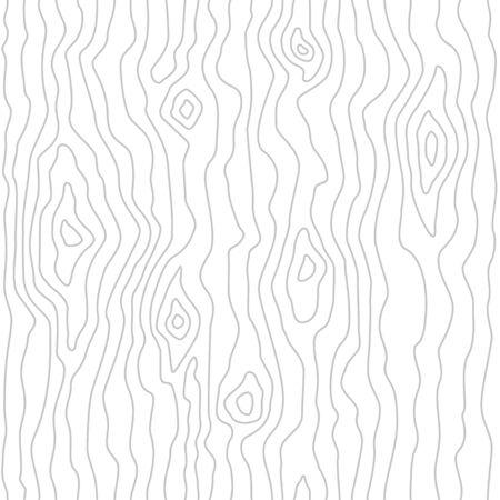 Modello in legno senza soluzione di continuità. Trama di venature del legno. Linee dense. Sfondo bianco. Illustrazione vettoriale