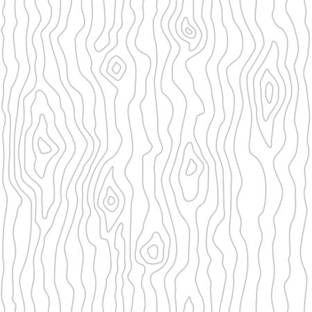 Seamless wooden pattern. Wood grain texture. Dense lines. White background. Vector illustration