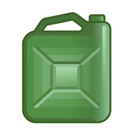 Fuel jerrycan icon. Canister for gasoline. Car oil vector sign Illustration