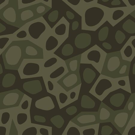 Geometric camouflage. Modern urban camo print for fabric. Green camo pattern, abstract geometric background. Seamless mosaic texture. Vector wallpaper