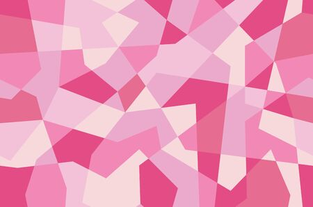 Pink seamless texture with triangles, mosaic endless pattern. Abstract geometric background. Vector wallpaper