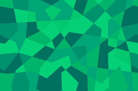 Green vector shining triangular backdrop. Creative geometric illustration in low poly style with gradient. Triangular pattern for your design. Stock Illustratie