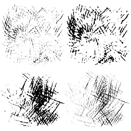 Hand drawn pencil stroke effect. Doodles hatching set. Scribble brush collection, ink sketches. Drawing background for your design. Scrawl elements. Vector.