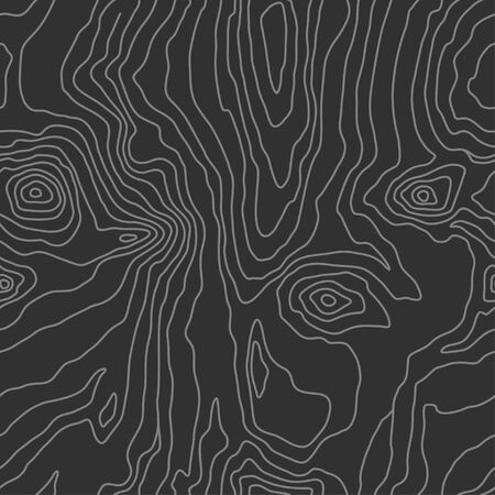 Wood grain black texture. Seamless wooden pattern. Abstract line background. Tree fiber vector illustration