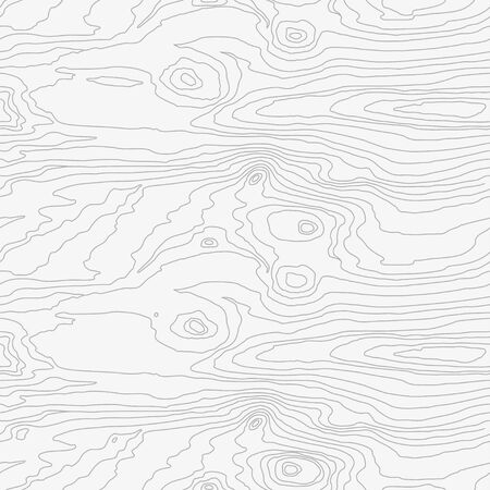 Seamless wooden pattern. Wood grain texture. Dense lines. Abstract white background. Vector illustration