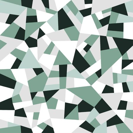 Polygon triangles background. Retro pattern with geometric shapes. Abstract vector texture