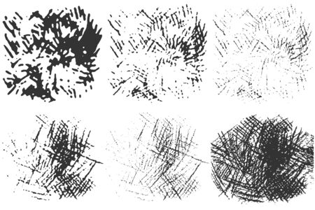 Hand drawn pencil stroke effect. Doodles set. Scribble brush collection, ink sketches. Drawing background for your design. Scrawl elements. Vector. Ilustrace
