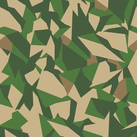 Stone soil with grass texture in brown and green colors in top view, seamless background. Pattern for the fill of architectural and landscape plans. Earth surface terrain. Vector illustration