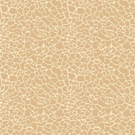 Organic seamless pattern, leather, fabric texture, spots abstract bionics background. Vector Ilustração