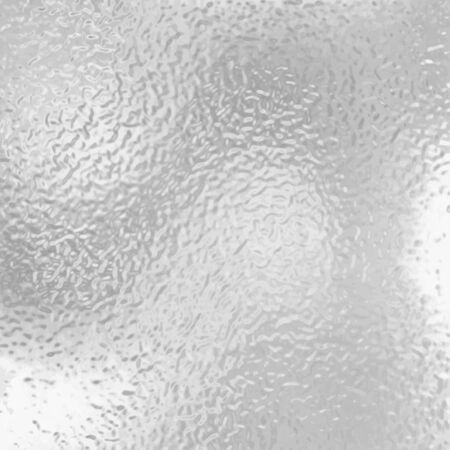 Texture, transparent, matte white and gray frosted glass, blur effect. Stained glass decorative background. Stock illustration