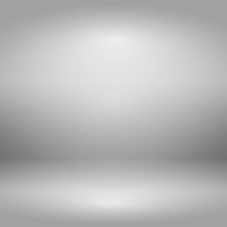 Empty gray studio room with lighting effect, used as background for display your products. Vector