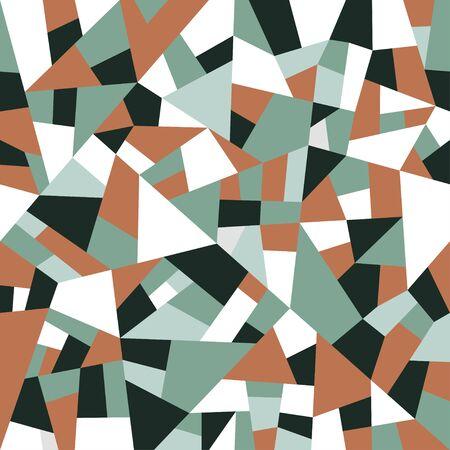Abstract polygonal background. Vintage colors geometric pattern. Vector retro backdrop. Ilustração