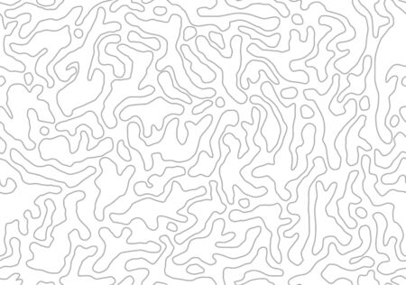 Vector seamless pattern. Monochrome organic shapes. Stylish natural structure. Abstract outline background