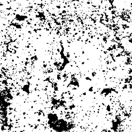 Grunge surface texture with dirty small spots, grit and noise. Abstract background with randomly filling small dirty spots. Overlay template. Vector