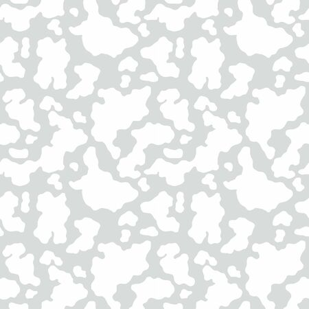 Abstract wallpaper, seamless texture, white spots on a light gray background. Print on fabric, cover or web pattern. Vector illustration