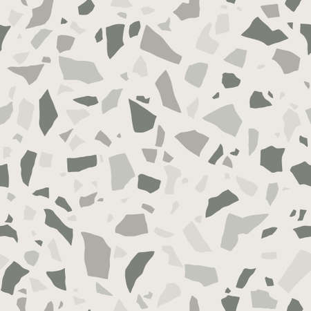 Gray terrazzo seamless texture. Floor tile, polished stone pattern. Marble surface.