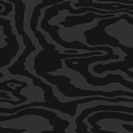 Wood grain black texture. Seamless wooden pattern. Abstract line background. Vectores