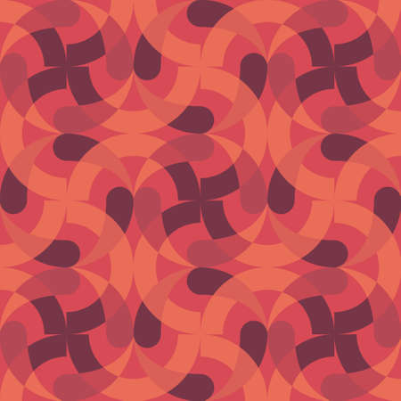 Vector round abstract geometric pattern and background. Seamless texture retro memphis style, fashion 80-90s. wrapper, wrapping Vectores