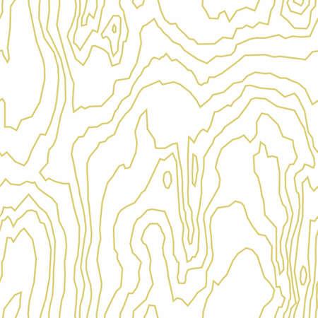 Seamless pattern of dense thin lines, wood grain texture background. Light golden wooden texture. Vector wallpaper