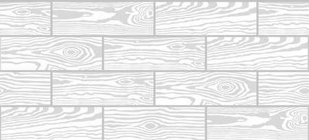 Parquet seamless texture. A floor made of wooden planks, imitation masonry of the laminate. Vector white monochrome background 일러스트