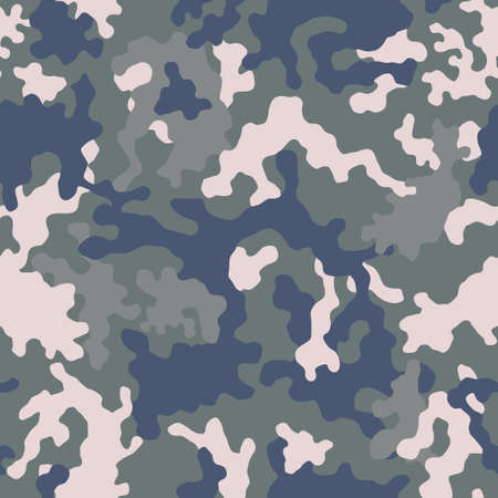 Seamless camouflage pattern. Light green texture, vector illustration. Camo print background. Abstract military style backdrop