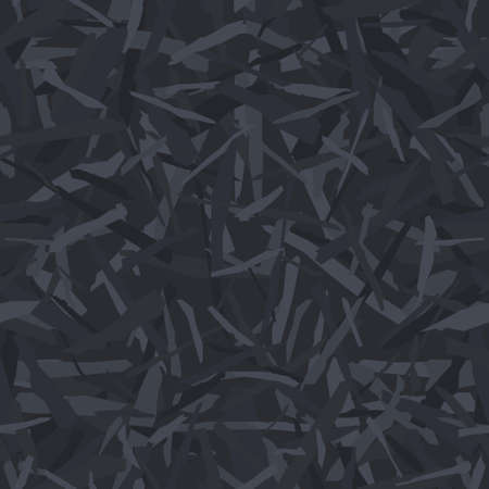 Camouflage for army or hunting and other use. Black monochrome camo texture. Military woodland pattern for fabric print. Vector