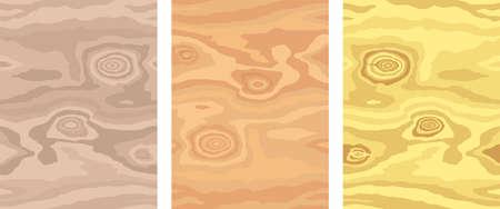 Wooden pattern. Wood grain texture. Dense lines. Light background. Vector set