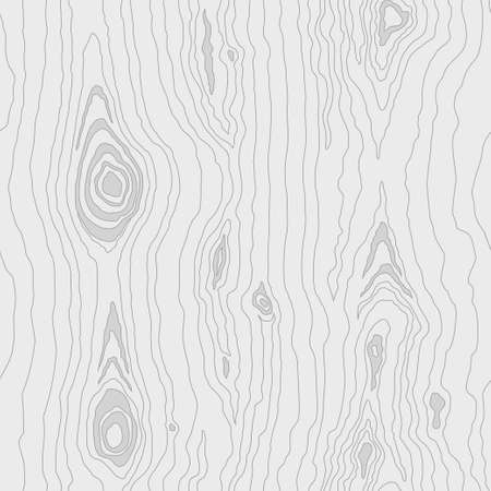 Seamless white wooden pattern. Wood grain texture. Dense lines. Abstract background. Vector illustration