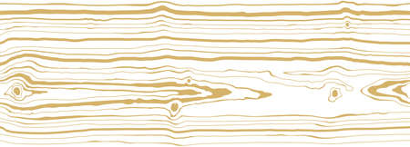 Dense thin lines pattern white background with light golden vein. Wood grain texture. Seamless tree pattern. Vector wallpaper Ilustração
