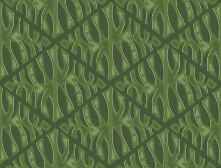 Stylized pattern of a leaf of monstera, seamless background for printing. Rhombus shape geometric texture. Vector Wallpaper