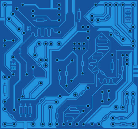 Circuit board, technology background. Digital electronic texture, high tech pattern. Vector wallpaper Ilustrace