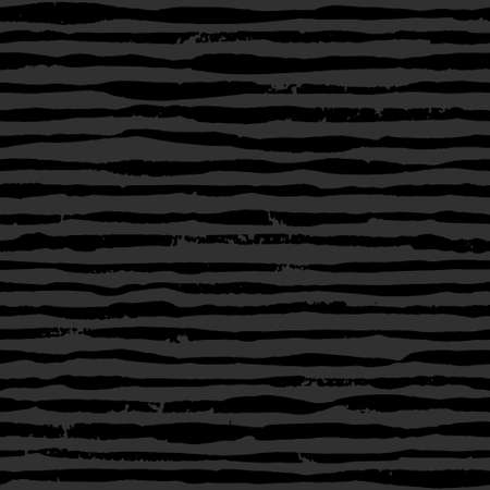 Black striped grunge pattern, seamless background with dry brush stroke stripes. Monochrome dark wallpaper.