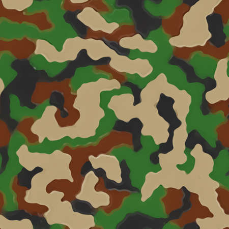 Camouflage pattern. Green military uniform. Camo texture, seamless background.