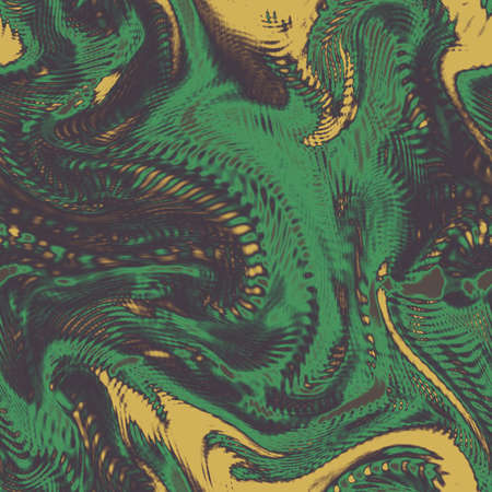 Alien seamless camo background. Techno wallpapers. Chameleon camouflage extraterrestrial pattern. Digital fantastic illustration
