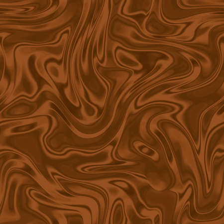 Brown seamless background with wavy draped fabric pleats, smooth silk texture with wrinkles and creases in the flowing fabric. Digital illustration
